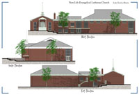 New Life Evangelical Lutheran Church Preliminary Illustration