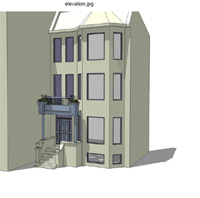 Wrigleyville Front Porch Preliminary Illustration